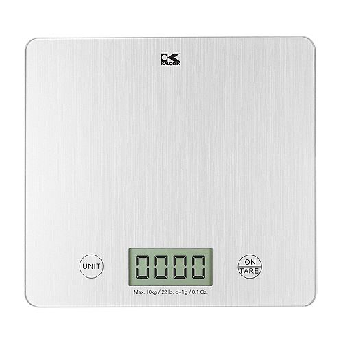 Balance de cuisine numérique XL Kalorik Argent avec écran LCD