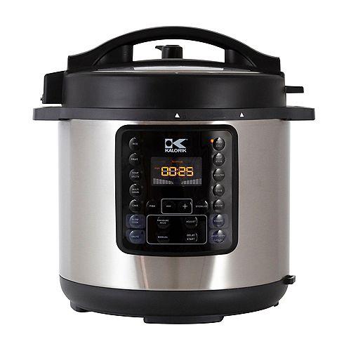 Kalorik Kalorik 6 Quart 10-in-1 Multi Use Pressure Cooker, Stainless Steel