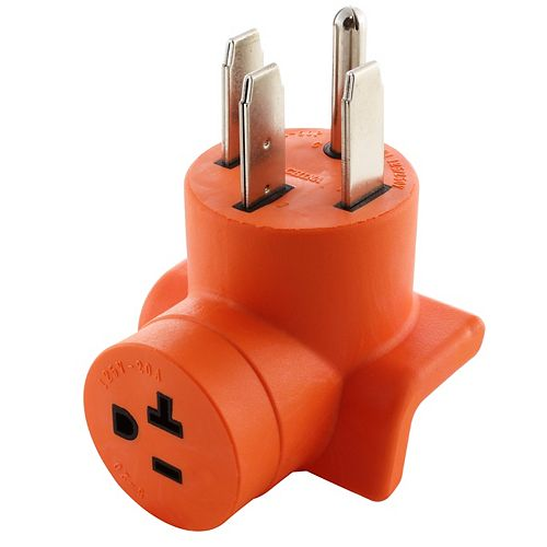 AC WORKS® Plug Adapter 14-50P 50A Outlet to Household 15/20 A T-Blade Connector