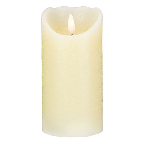 """6"""" Ivory Flameless Battery Operated Christmas Decor Candle"""