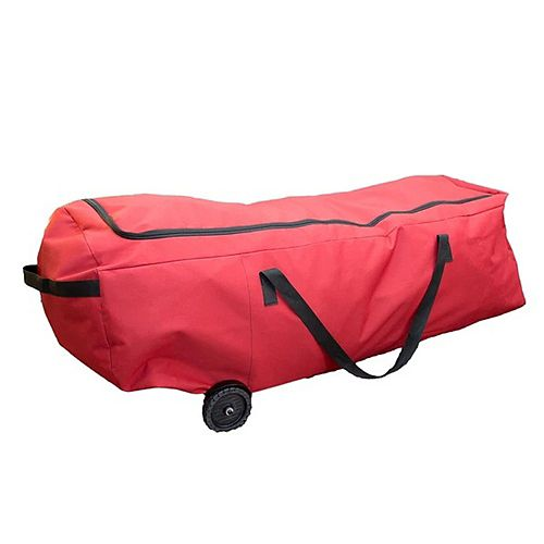 """56"""" Red EZ Roller Christmas Tree Storage Bag with Wheels"""