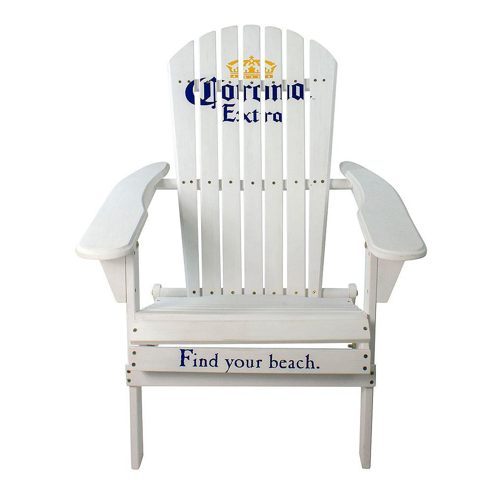 "Northlight 36"" White Corona Classic Folding Wooden Adirondack Chair"
