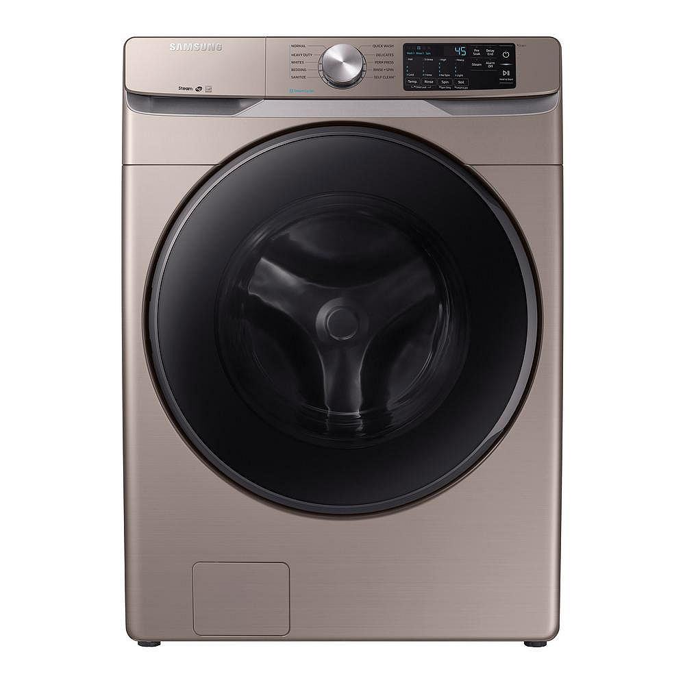 Samsung 5.2 cu. ft. High-Efficiency Front Load Washer with Steam in Champagne - ENERGY STAR®