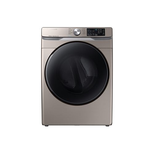 7.5 cu.ft. Electric Dryer with Steam and SmartCare in Champagne - ENERGY STAR®