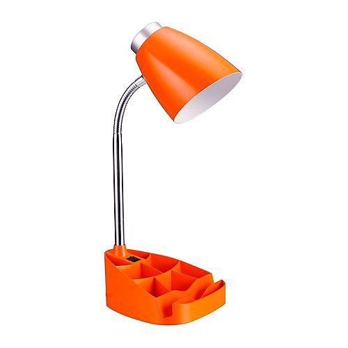 18.5 pouces orange Lampe de bureau organisateur