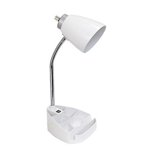 18.5 pouces blanc Lampe de bureau organisateur feux et port USB