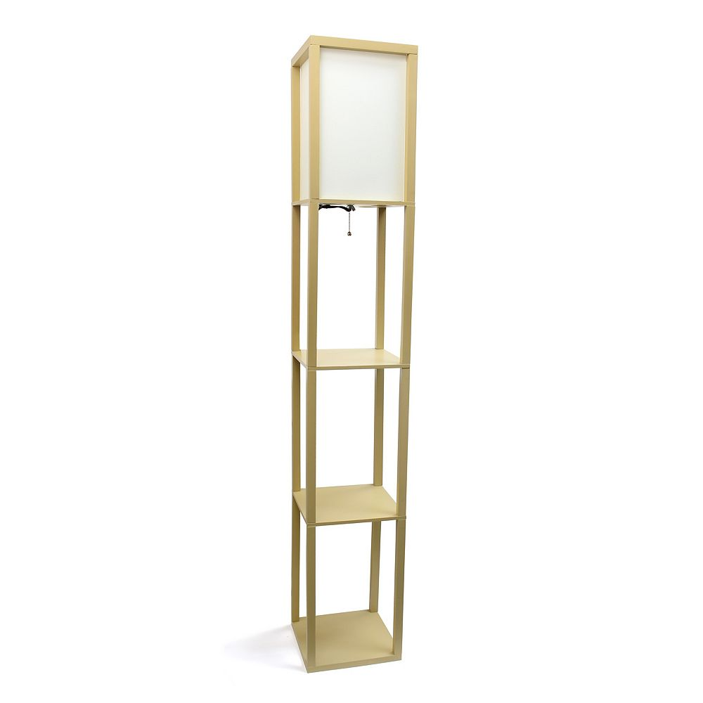 Simple Designs 62 75 Inch Tan Floor, Floor Lamps With Shelf Canada
