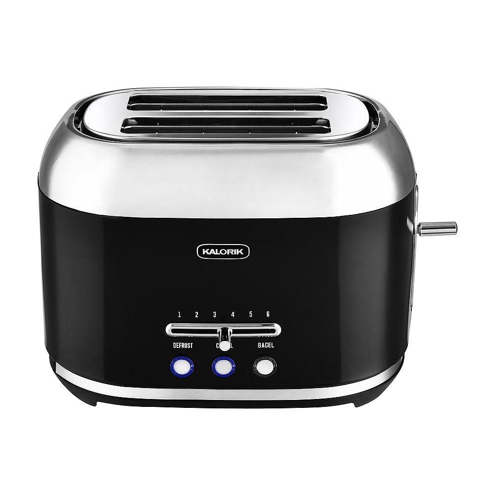 Kalorik 2-Slice Retro Toaster, Black