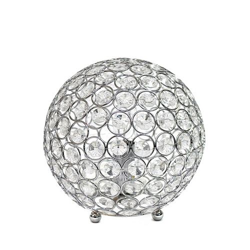 8 pouces chrome la lampe de table Elipse 8 pouces  en cristal à paillettes