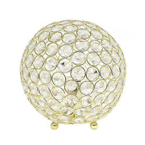 8 pouces or la lampe de table Elipse 8 pouces  en cristal à paillettes
