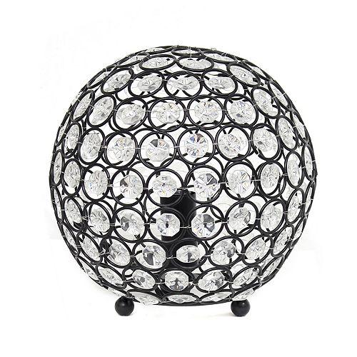 8 pouces bronze de restauration la lampe de table Elipse 8 pouces  en cristal à paillettes