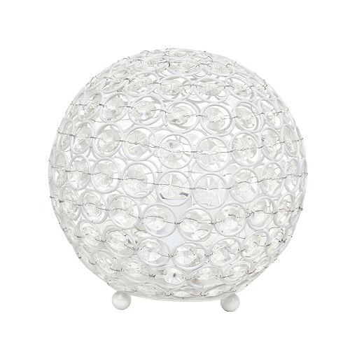 8 pouces blanc la lampe de table Elipse 8 pouces  en cristal à paillettes