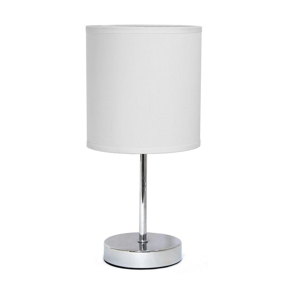 11 Inch Chrome Mini Basic Table Lamp, Mini Lamp Shades For Chandeliers Canada