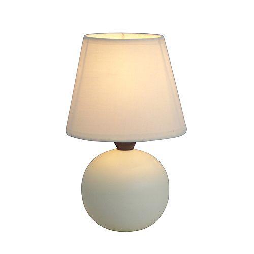 8.66 pouces blanc Mini lampe de table à globe en céramique