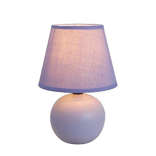 8.66 pouces violet Mini lampe de table à globe en céramique
