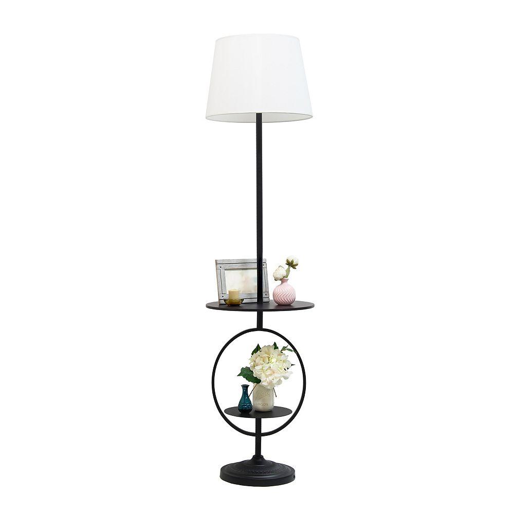 Elegant Designs 61 4 Inch Black Floor, Floor Lamps With Shelf Canada
