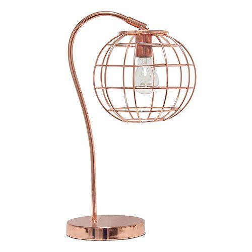 20 pouces Or Rose Lampe de table