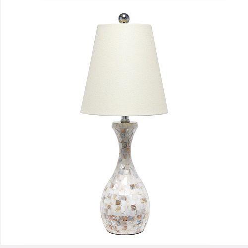 25 pouces Coquille De Mosaïque Lampe de table