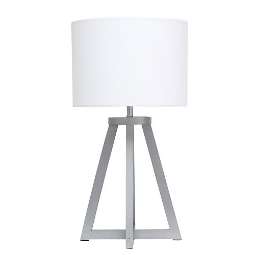 19.125 pouces Gris et Blanc Lampe de table