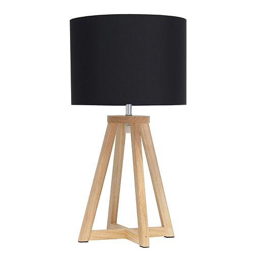19.125 pouces Naturel et Noir Lampe de table
