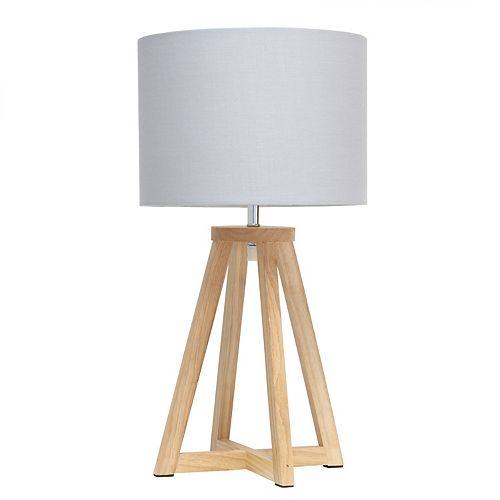19.125 pouces Naturel et Gris Lampe de table