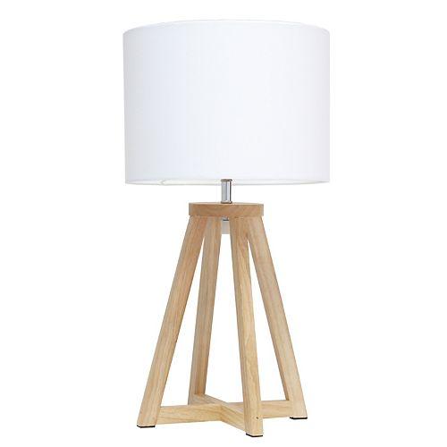 19.125 pouces Naturel et Blanc Lampe de table