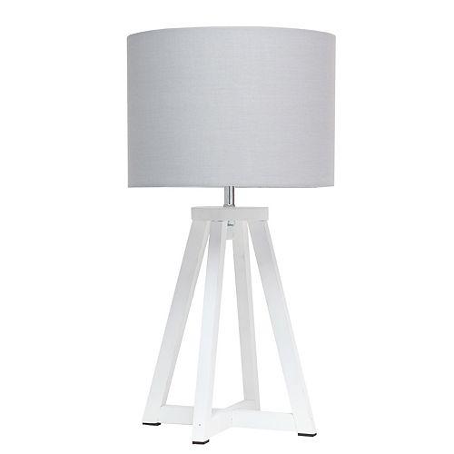 19.125 pouces Blanc et Gris Lampe de table