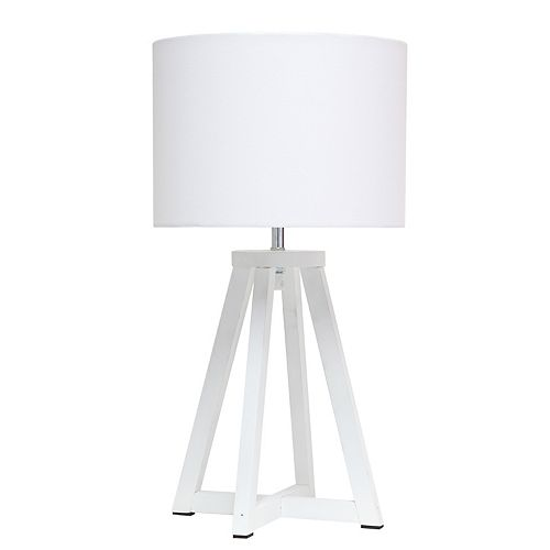 19.125 pouces Blanc et Blanc Lampe de table