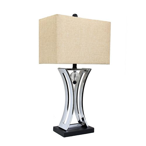 Elegant Designs 28-inch Chrome Table Lamp