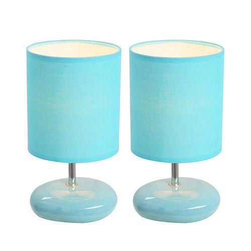 10.24 pouces Bleu Lampe de table