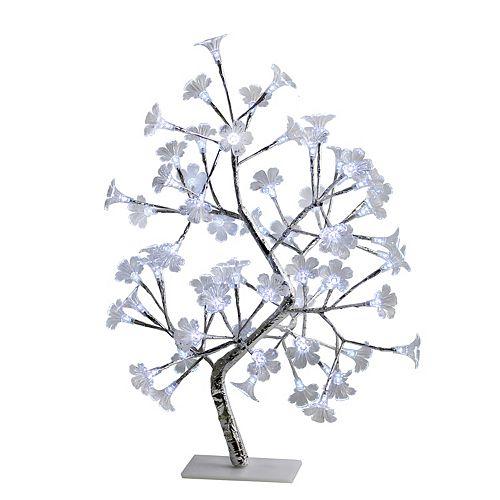 23.62 pounces Arbre décoratif éclairé à DEL White Morning Glory