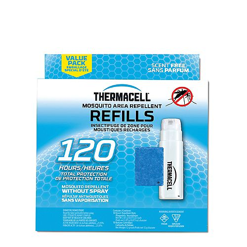 Thermacell Original Mosquito Repellent Refills Covering a 4.5 m Protection Zone with 30 Repellent Mats and 10 Fuel Catridges and 120 Hour Usage