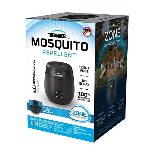 Thermacell Rechargeable Mosquito Repeller with 12 Hour Refill in Charcoal