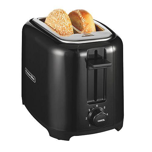 Wide-Slot 2 Slice Toaster, Black, 22215