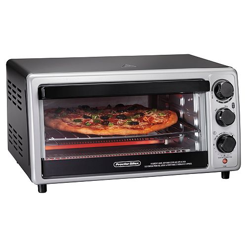 Toaster Oven, 6 Slice Capacity, with Toast, Bake and Broil Settings 31124