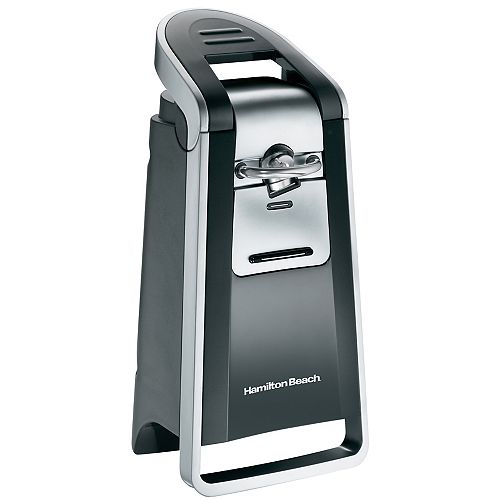 Smooth Touch Electric Can Opener, Includes Scissors, Black and Chrome, 76607