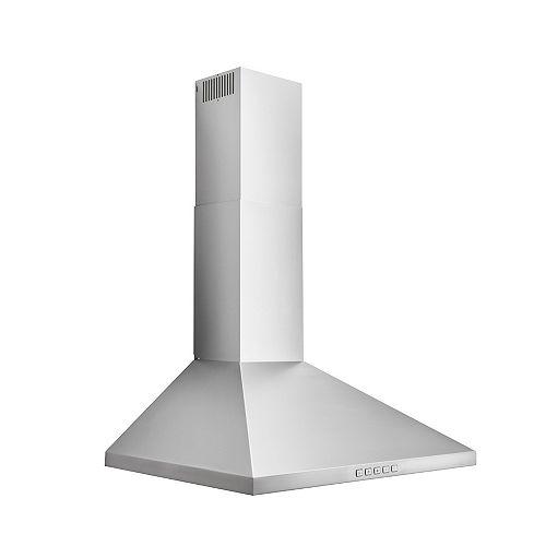 30 inch 450 CFM Pyramidal Chimney Range Hood in Stainless Steel