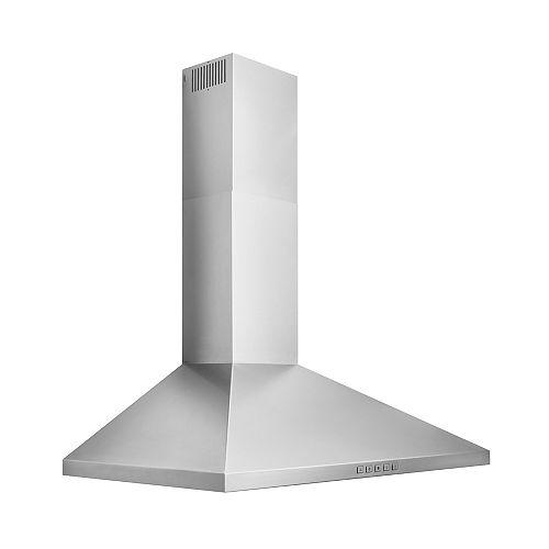 36 inch 450 CFM Pyramidal Chimney Range Hood in Stainless Steel