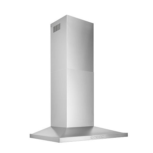 30 inch 450 CFM Low Profile Pyramidal Chimney Range Hood in Stainless Steel