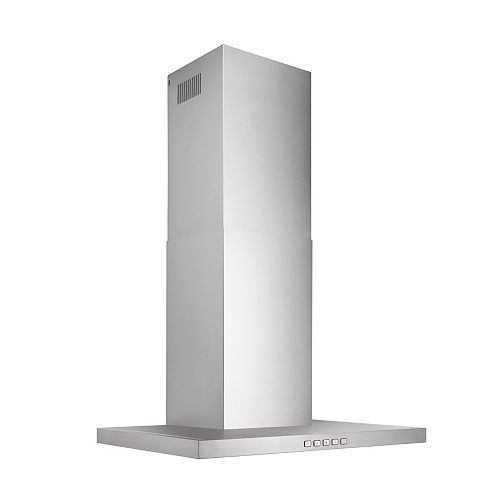 Broan-NuTone 30 inch 450 CFM T-Style Chimney Range Hood in Stainless Steel