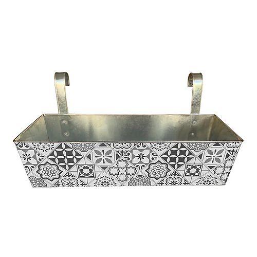 BW TURKISH MOSAIC DECAL BALCONY BOX