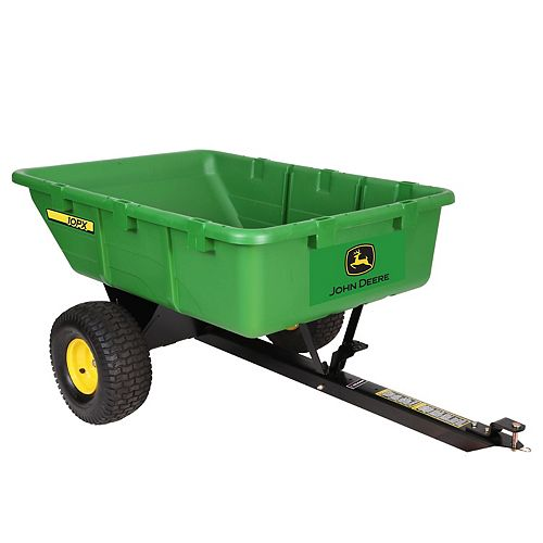 650 lb. 10 cu. ft. Tow-Behind Poly Utility Cart with Full 180° Dump