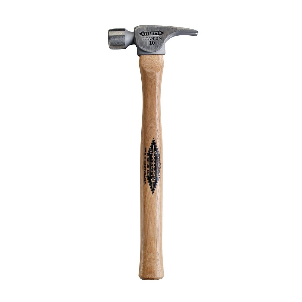 Milwaukee Tool 10 oz Titanium Smooth Face Finish Hammer with 16 -inch Straight Hickory Handle