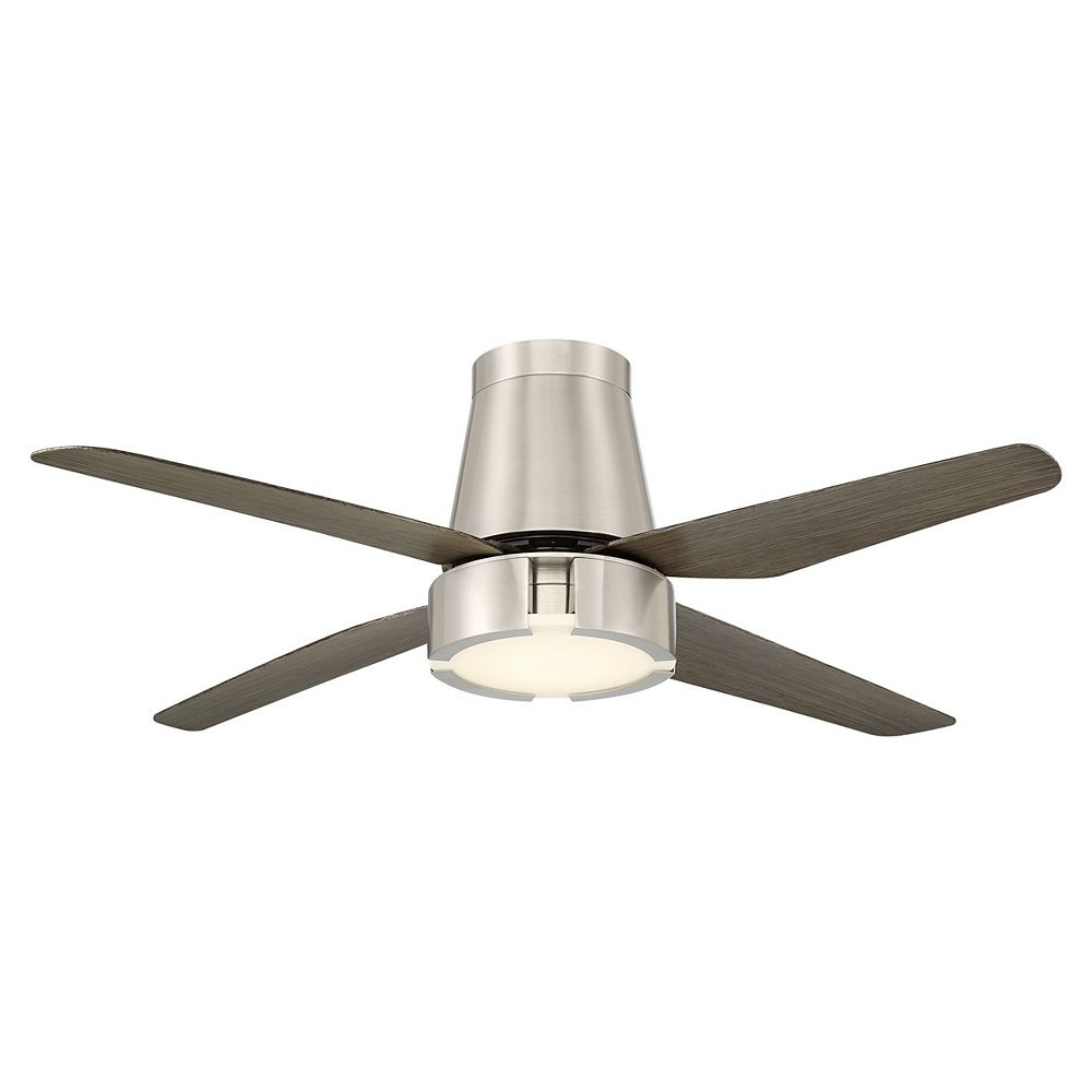 GlucksteinElements Hugh 52 in LED Indoor Ceiling Fan - Brushed Nickel