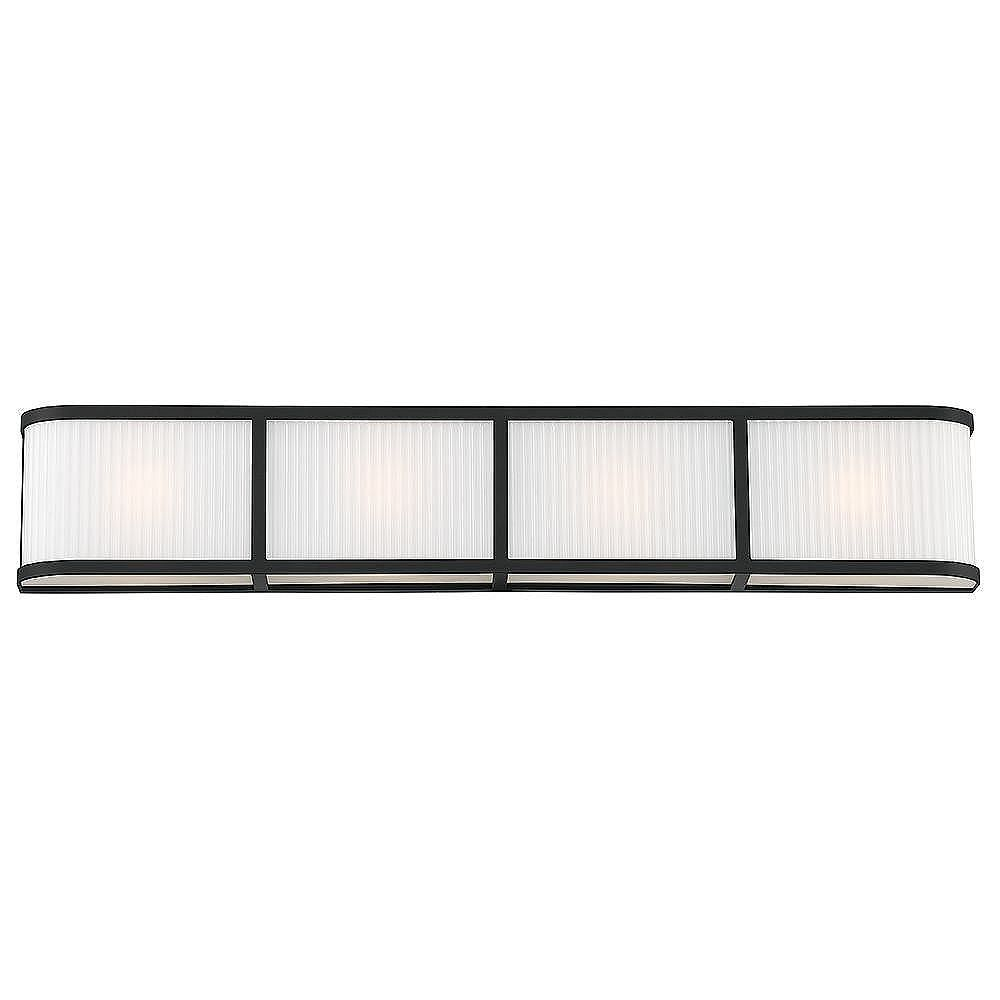 GlucksteinElements Ashbury 4-Light Vanity Fixture - Black