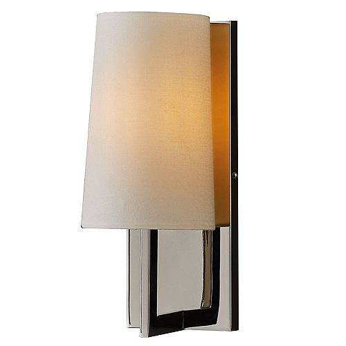 Dorset 1-Light Wall Sconce With Polished Nickel Finish