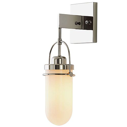 Lowell 1-Light Wall Sconce With Polished Nickel Finish