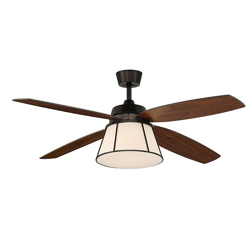 Anders 56-inch Indoor Ceiling Fan with LED Light in Oil Rubbed Bronze with Remote Control