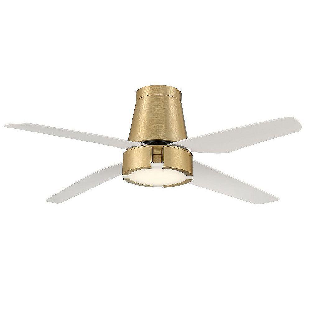 GlucksteinElements Hugh 52 in LED Indoor Ceiling Fan - Brushed Brass