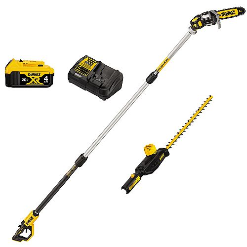 20V MAX CORDLESS POLE SAW AND POLE HEDGE TRIMMER COMBO KIT